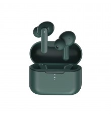 QCY T10 TWS GREEN Dual Armature Driver 4-mic noise cancel. True Wireless Earbuds Quick Charge 600mAh