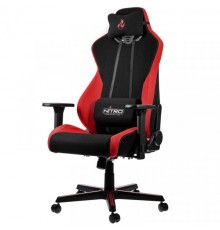 Nitro Concepts S300 Gaming Chair - Quality Fabric & Cold Foam - Inferno Red