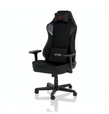 Nitro Concepts X1000 Gaming Chair - Quality Fabric & Cold Foam - Stealth Black