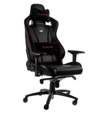 noblechairs EPIC Gaming Chair Breathable, 4D armrests, 60mm casters - black/red