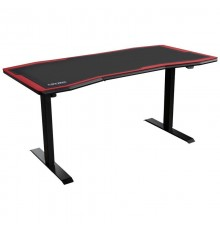 Nitro Concepts Gaming Desk D16E Carbon Red 1600x800 - electrically adjustable height