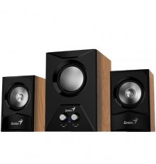 GENIUS SPEAKERS 1WAY, 2.1CH, 15W, WOODEN, BLACK, V+B/C