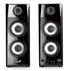 GENIUS SPEAKERS 3WAY, 2.0CH, 50W, WOODEN, BLACK, V+T+B/C