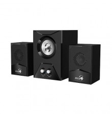 GENIUS SPEAKERS 1WAY, 2.1CH, 15W, WOODEN SUB, BLACK, V+B/C