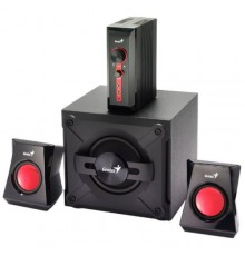 GENIUS SPEAKERS 1WAY, 2.1CH, 38W, WOODEN SUB, BLACK, V+B/C