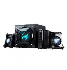 GENIUS SPEAKERS 1WAY, 2.1CH, 45W, WOODEN SUB, BLACK, V+B/C