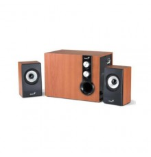 GENIUS SPEAKERS 1WAY, 2.1CH, 32W, WOODEN, BROWN, V+B/C
