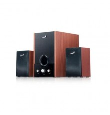 GENIUS SPEAKERS 1WAY, 2.1CH, 45W, WOODEN, BROWN, V+B+T/C