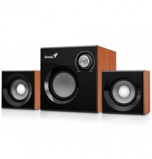 GENIUS SPEAKERS 1WAY, 2.1CH, 08W, WOODEN, BROWN, V/C