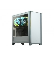 CORSAIR 4000D MID TOWER WHITE WITH TEMPERED GLASS - GAMING CASE